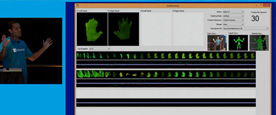 Kinect的系统中生成的识别器可以在实际应用中识别目标手势
