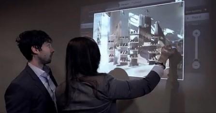 Kinect可在任何平面上投影出触摸屏